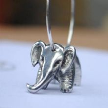 Elephant hoop earrings E59